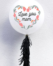 Love You Mom Flower Wreath