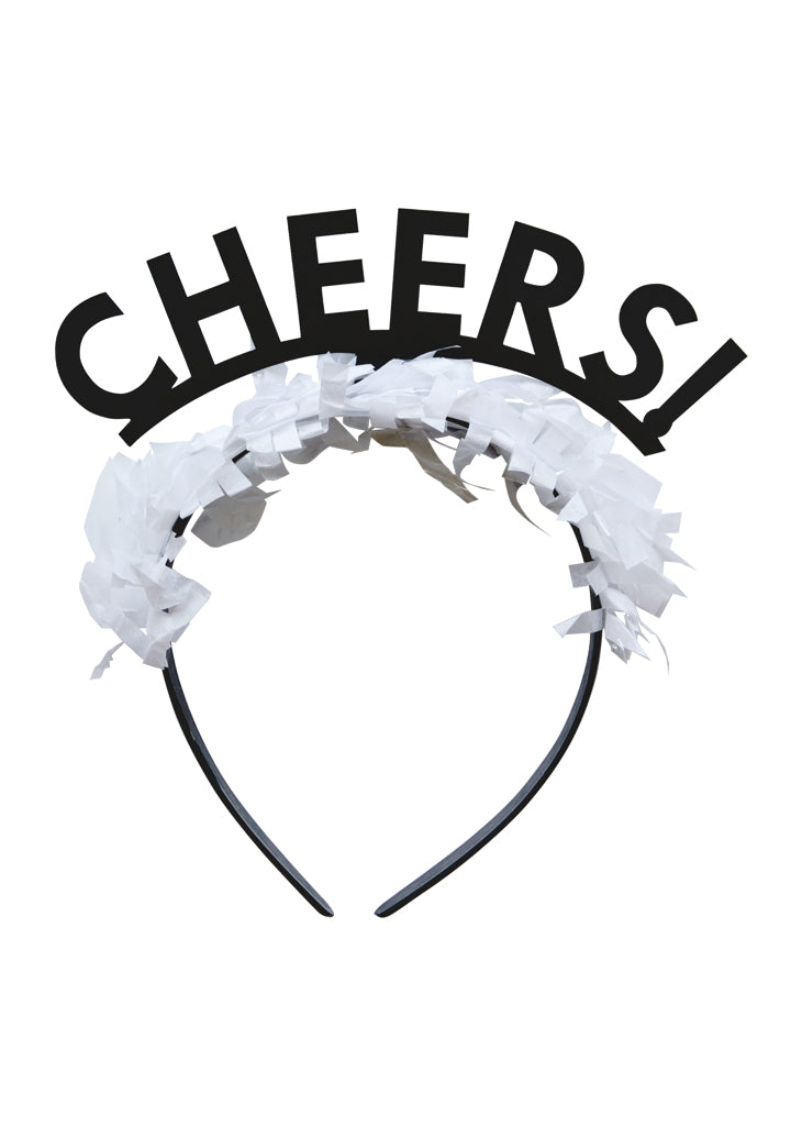 Party Up Top Single Headband: 'Cheers!'