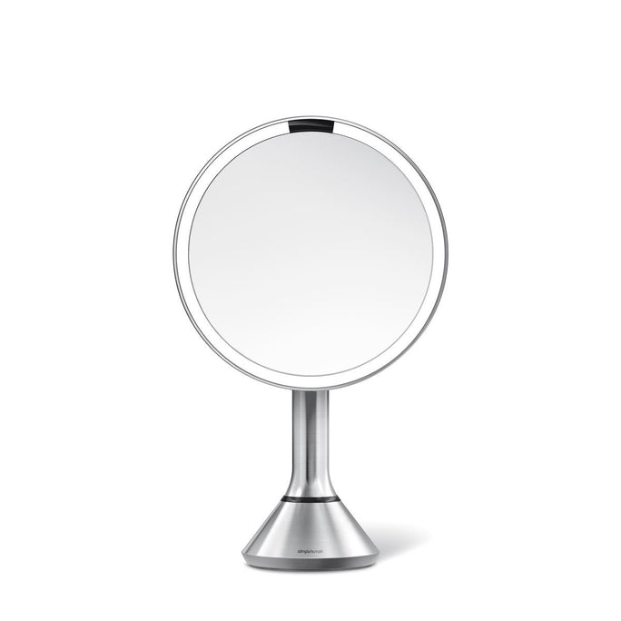 sensor mirror with touch-control brightness - brushed finish - main image