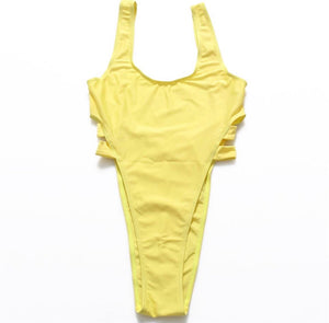 Platanito High Cut Swimsuit - Yellow