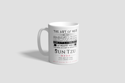 Sun Tzu The Art of War 11oz Mug with Quote