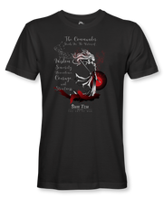 "Load image into Gallery viewer, The Commander Stands For Virtues..."" ~ Sun Tzu: The Art of War, Female Warrior, T-Shirt Unisex, Black"