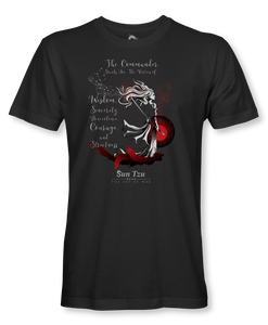 "The Commander Stands For Virtues..."" ~ Sun Tzu: The Art of War, Female Warrior, T-Shirt Unisex, Black"