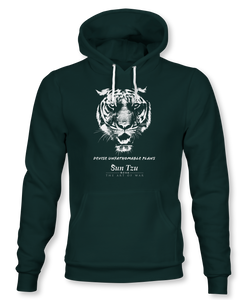 Devise Unfathomable Plans. ~ Sun Tzu: The Art of War, Hoodie, Unisex, Forest Green