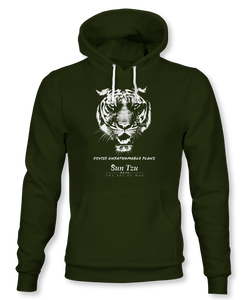 Devise Unfathomable Plans. ~ Sun Tzu: The Art of War, Hoodie, Unisex, Military Green