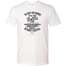 "Load image into Gallery viewer, Sun Tzu The Art of War T-Shirt with Quote ""To Fight And Conquer In All Your Battles Is Not Supreme Excellence..."""