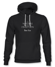 "Load image into Gallery viewer, ""All Warfare Is Based On Deception"" ~ Sun Tzu: The Art of War, Hoodie, Unisex, Black"