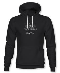 """All Warfare Is Based On Deception"" ~ Sun Tzu: The Art of War, Hoodie, Unisex, Black"