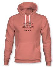 "Load image into Gallery viewer, ""All Warfare Is Based On Deception"" ~ Sun Tzu: The Art of War, Hoodie, Unisex, Desert Pink"