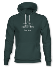 "Load image into Gallery viewer, ""All Warfare Is Based On Deception"" ~ Sun Tzu: The Art of War, Hoodie, Unisex, Forest Green"