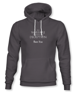 """All Warfare Is Based On Deception"" ~ Sun Tzu: The Art of War, Hoodie, Unisex, Heavy Metal"