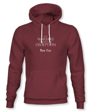 "Load image into Gallery viewer, ""All Warfare Is Based On Deception"" ~ Sun Tzu: The Art of War, Hoodie, Unisex, Maroon"