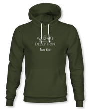 "Load image into Gallery viewer, ""All Warfare Is Based On Deception"" ~ Sun Tzu: The Art of War, Hoodie, Unisex, Military Green"
