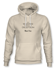 "Load image into Gallery viewer, ""All Warfare Is Based On Deception"" ~ Sun Tzu: The Art of War, Hoodie, Unisex, Natural"