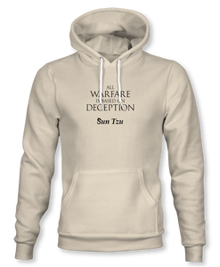 """All Warfare Is Based On Deception"" ~ Sun Tzu: The Art of War, Hoodie, Unisex, Natural"