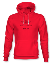 "Load image into Gallery viewer, ""All Warfare Is Based On Deception"" ~ Sun Tzu: The Art of War, Hoodie, Unisex, Red"