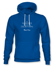 "Load image into Gallery viewer, ""All Warfare Is Based On Deception"" ~ Sun Tzu: The Art of War, Hoodie, Unisex, Royal"