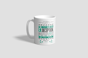 "Sun Tzu The Art of War 11 oz. Mug with Quote ""All Warfare Is Based On Deception..."""