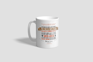 "Sun Tzu The Art of War 11oz Mug with Quote ""If You Know The Enemy And Know Yourself, Need Not Fear A Hundred Battles..."""
