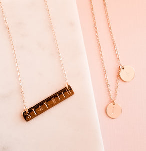 The Sunset Bar Necklace: Feminist