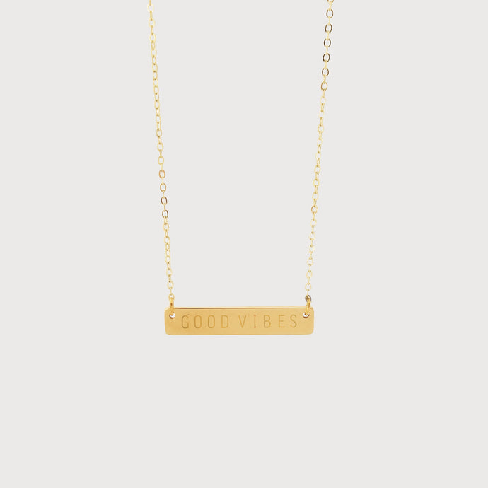 The Sunset Bar Necklace: Good Vibes