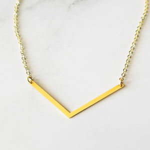Chevron Pendant Necklace