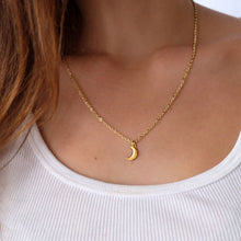 Load image into Gallery viewer, Crescent Moon Charm Necklace