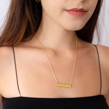 Load image into Gallery viewer, The Sunset Bar Necklace: Good Vibes