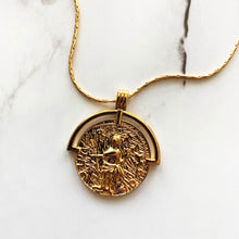Load image into Gallery viewer, Half Medallion Necklace