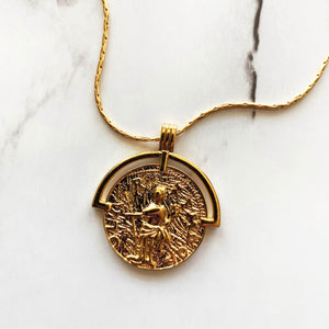 Half Medallion Necklace