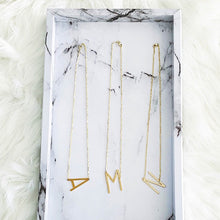 Load image into Gallery viewer, Sideways Large Letter Necklace