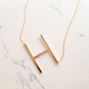 Sideways Large Letter Necklace