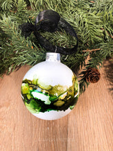 Load image into Gallery viewer, #1 - Holiday Hand-Painted Alcohol Ink Ornament