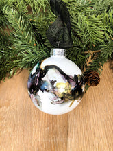 Load image into Gallery viewer, #12 - Holiday Hand-Painted Alcohol Ink Ornament