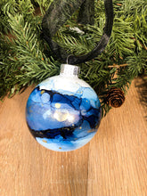Load image into Gallery viewer, #3 - Holiday Hand-Painted Alcohol Ink Ornament