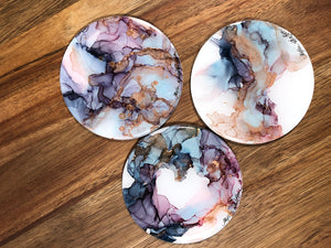 Kindness - Alcohol Ink Coasters -