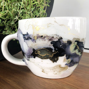 #10 - Alcohol Ink Hand-Painted Coffee Mug