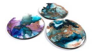 Patience - Alcohol Ink Coasters -
