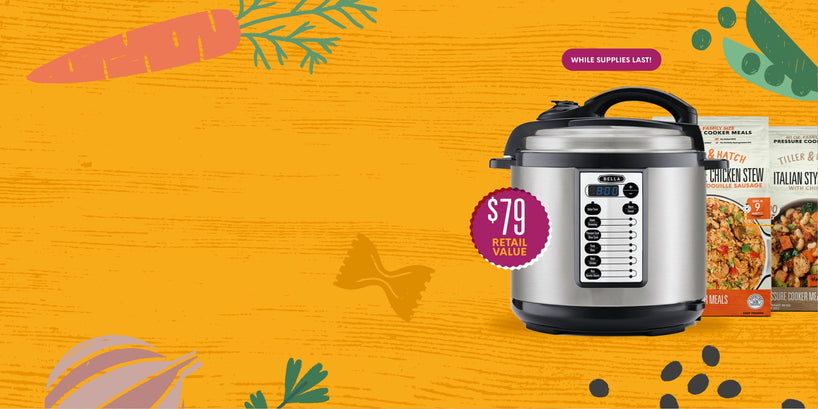 Buy an 8 meal plan and get a FREE pressure cooker! That's one hot deal!!