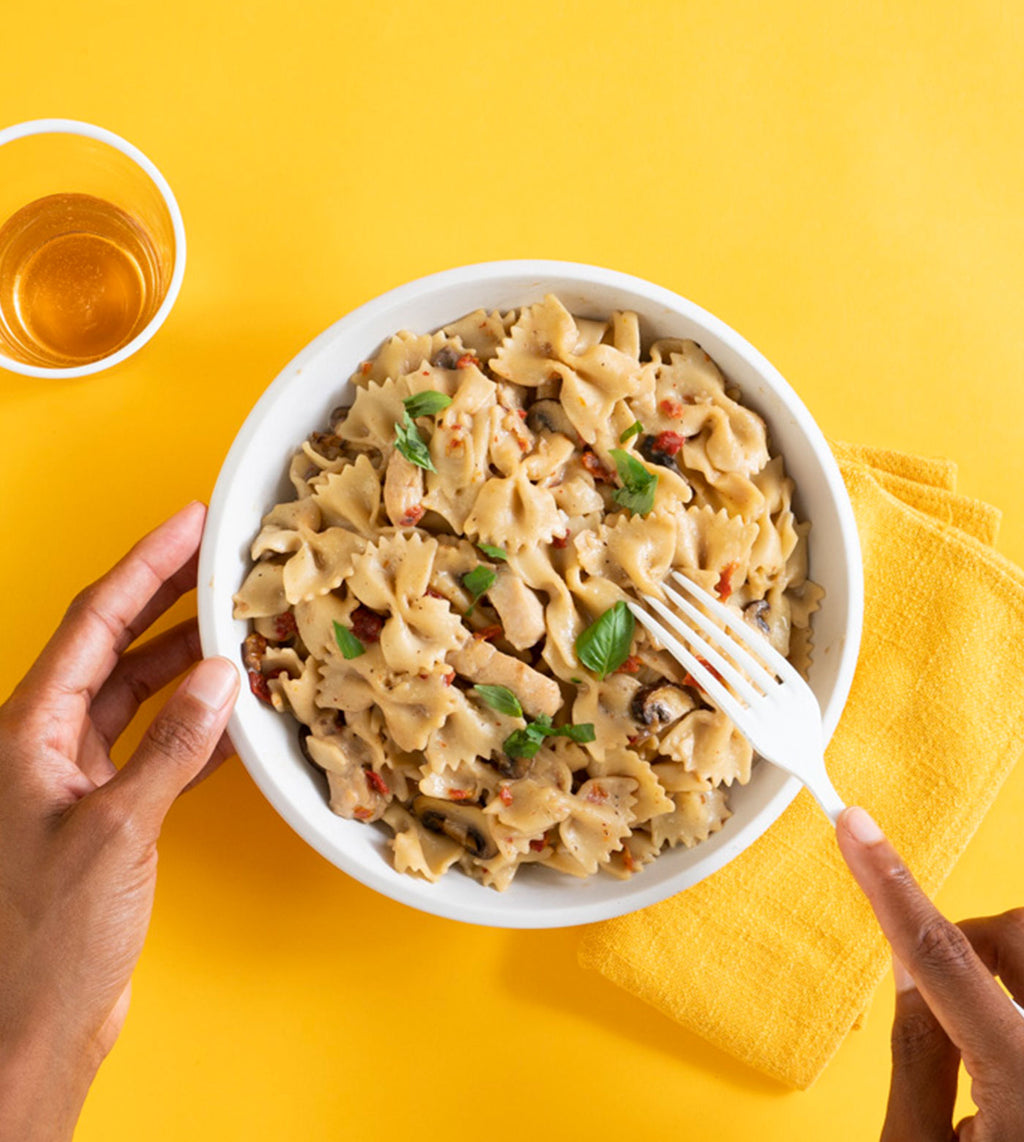 Farfalle with Marsala Sauce and Chicken
