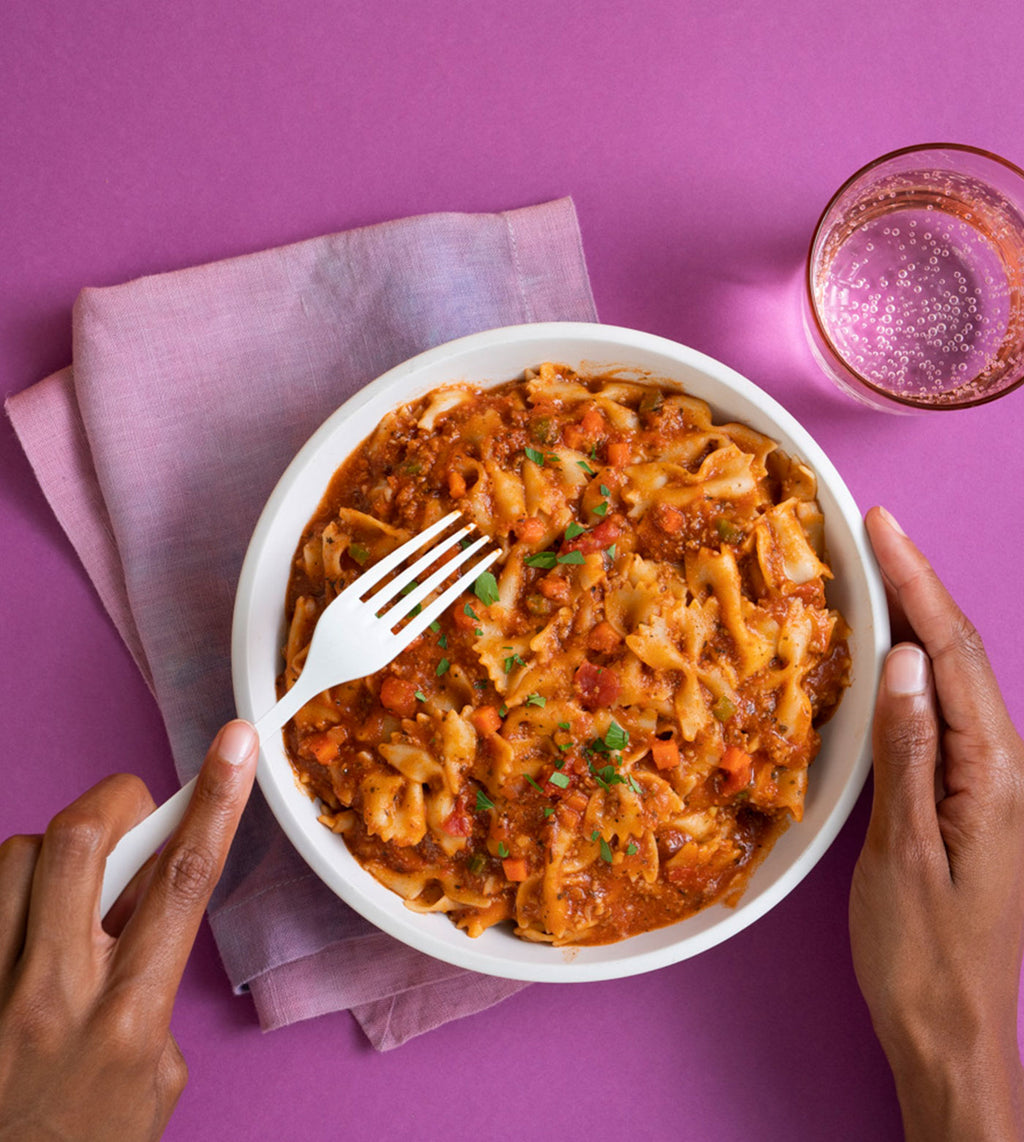 Farfalle Pasta with Marinara and Ground Turkey