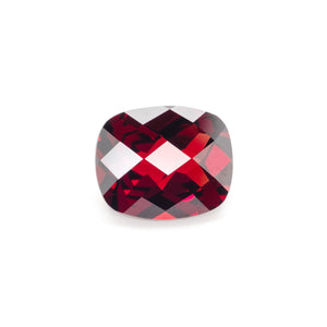 12x10mm Chequerboard Cushion Garnet (GACU1210CB)