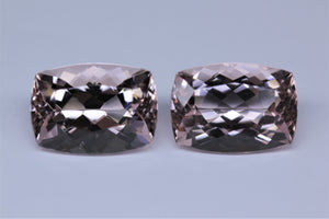 Pair 14x10mm Cushion Morganites (MOGCU1410)