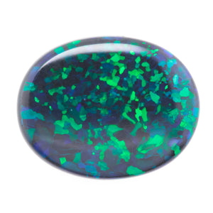 12.7x10.1mm Oval Black Opal (OPBV12710)