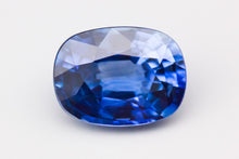 8.08x6.07mm Cushion Ceylon Sapphire Certificated (SACU86A)