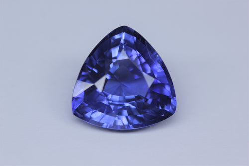 [SOLD] 11.4x11.4mm Trillion Ceylon Sapphire Certificated (SATR11)