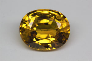 12x9.8mm Oval Yellow Sapphire (SAYV1012)