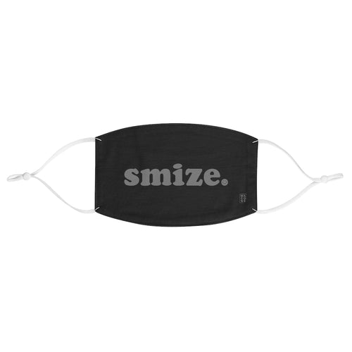 Smize. (Smile with your Eyes) Face Mask (Black)