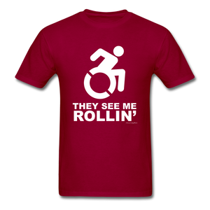 They See Me Rollin' - Men's T-Shirt - dark red