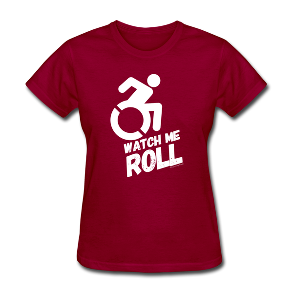 Watch Me Roll - Women's T-Shirt - dark red